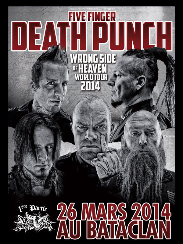 Five Finger Death Punch @ Paris