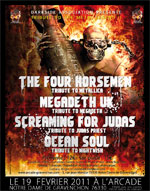 The Four Horsemen, Megadeth Uk, Screaming For Judas...